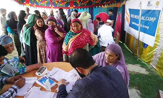 dr sameer kaul medical camp srinagar